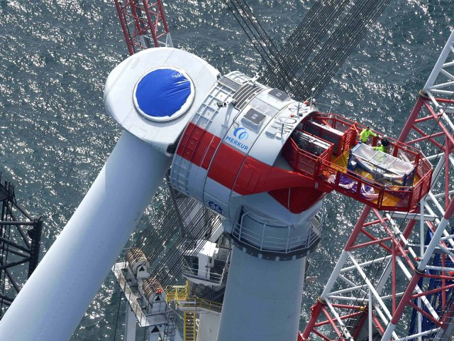Project financing with LBBW: Four wind turbines at the Merkur wind farm in the middle of the North Sea