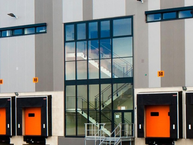 Commercial real estate financing with LBBW: Detail of a logistics building in Zalando